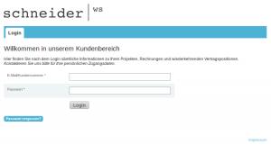 Schneider Websolutions Kundenbereich